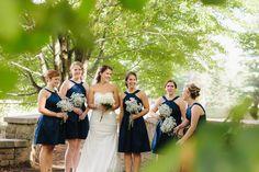 Bridesmaids pose - Marshfield, WI