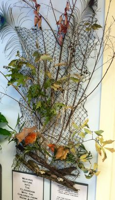 Weaving with natural materials ≈≈ this would be cool with autumn ...