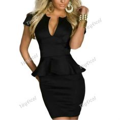 Evening/Party V-neck Shaping Clubwear #Dresses for Women Ladies #TodayDeals  #AliUSAExpress  #RT
