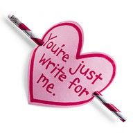 You're just write for me ~ 101 Valentines Ideas Under 5 Dollars  =)