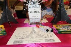 Children's table- paris party