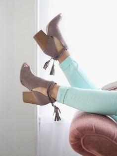 Lacey Open Toe Bootie-Taupe