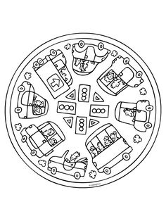 Mandalas bring relaxation and comfort to adults all over the world. Mandalas are one of our favorite things to color. Kids can color them too! We have some more simple mandalas for kids to color. Mandalas for Kids Cat Coloring Page, Disney Coloring Pages, Printable Coloring Pages, Adult Coloring Pages, Coloring Pages For Kids, Mandala Coloring Pages, Colouring Pages, Coloring Sheets, Coloring Books