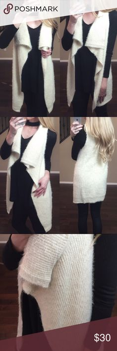 NWT!! Mohair Waterfall Vest - S/M - Reposh from my dear friend @shopinbed! Photo and modeling credits go to her!❤️ This beautiful mohair vest is brand new with tags, never worn, never tried on. It is absolutely perfect for your fall & winter wardrobe! Size S/M with a loose, comfy fit. Could fit a M/L as well. Please see last photo for details from original listing. Absolutely no flaws or odors as this item is brand new. Comes from a smoke-free home. Please ask any questions prior to buying…