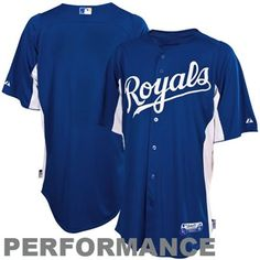 Majestic Kansas City Royals Batting Practice Performance Jersey - Royal Blue-White  @Fanatics ® ®#fanaticswishlist
