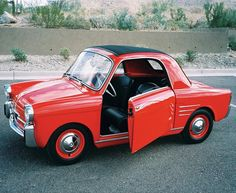 "1959 Autobianchi Bianchina 500 Transformable This is the cutest ""toy"" car I have ever seen."