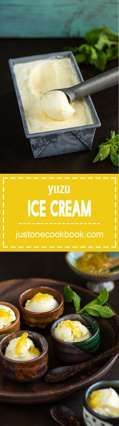 Yuzu Ice Cream (柚子アイスクリーム) | Easy Japanese Recipes at JustOneCookbook.com