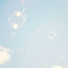 blue, bubbles, and pastel image