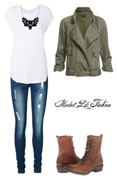 """""""Modest_Lds_Fashion"""" by modest-mormon-fashion ❤ liked on Polyvore featuring Vero Moda, Witchery, Frye and Style & Co."""