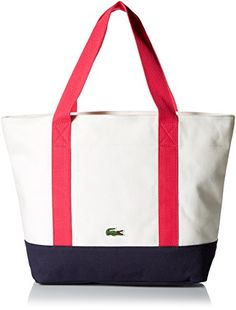 3e3b19d9b364 Lacoste Women s Summer Medium Canvas Shopping Bag Tote Bag Symbol of  relaxed elegance since 1933