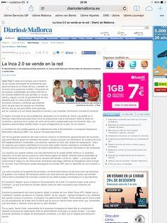 Diario de Mallorca pública la presentación de Ubime de Inca, entra y consulta en www.ubime.es/incaturistica