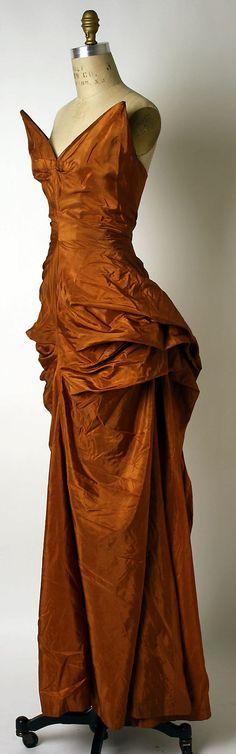 Dress, Evening  Elsa Schiaparelli  (Italian, 1890–1973)  Date: ca. 1949 Culture: French Medium: silk
