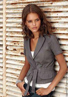 Cotton jacket / Костюмы ручной работы. Ярмарка Мастеров - ручная работа. Купить жакет. Handmade. Серый, однотонный, купить жакет, пиджак женский