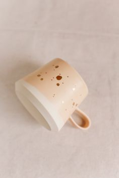 Handmade Copenhagen Mug in Peach  22k GOLD by paperandclaystudio