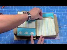 Baby Mini Album using Kathy Orta Build a Page Mini Albums, Mini Scrapbook Albums, Scrapbook Journal, Baby Scrapbook, Scrapbook Paper Crafts, Baby Mini Album, Envelope Book, Paper Bag Album, Mini Scrapbooks