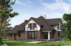 Балкон на мансарде может послужить украшением фасада Modern Bungalow House, Main Door, Roof Design, Home Fashion, Home Projects, Contemporary Design, House Plans, Shed, Exterior