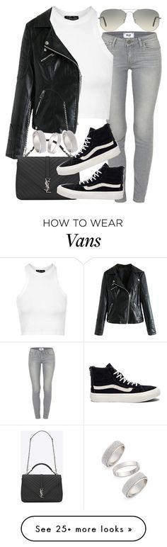 """""""Untitled #2151"""" by do-the-calder on Polyvore featuring Paige Denim, Topshop, Ray-Ban, Yves Saint Laurent, Vans, women's clothing, women, female, woman and misses"""