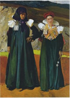 Traditional dress from the Anso Valley von Joaquín Sorolla (1914)