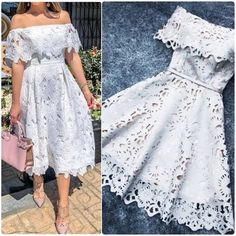 A-Line Off-the-Shoulder Short Light Gray Lace Homecoming Dress with Ruffles - Moda Cute Dresses, Casual Dresses, Short Dresses, Summer Dresses, Formal Dresses, Elegant Dresses, Dresses Dresses, Romantic Dresses, Vintage Girls Dresses