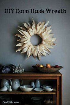 Thanksgiving Wreaths, Fall Wreaths, Thanksgiving Decorations, Autumn Decorations, Thanksgiving Ideas, Easy Crafts To Make, How To Make Wreaths, Diy Crafts, Xmas Crafts
