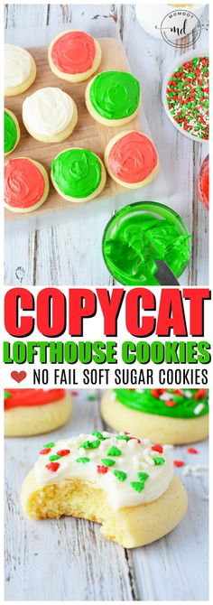 Lofthouse cookies copycat recipe, easy soft and delicious sugar cookie for the holiday season - BEST copycat for Christmas cookies out there