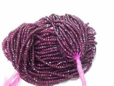 25% discount 3 mm - 3.50 mm Natural RHODOLITE GARNET roundel micro faceted beads with sparkle special DISCOUNT for bag order