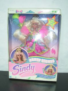 1991 VINTAGE SINDY DOLL PARTY LIGHTS MIB HASBRO RARE | eBay