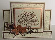 classic Christmas stepper card
