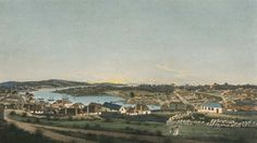 A view of the town of Sydney in the colony of New South Wales, 1802 Historical Images, Historical Romance, The Rocks Sydney, Paris Skyline, First Fleet, Botany Bay, Australian Authors, South Wales, Old Photos