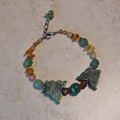 Green Serpentine Butterfly Beaded New Jade by delaMarCollection, $29.00