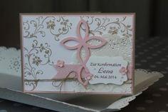 Konfirmationskarte Elegantes Gitter, Bild1, gebastelt mit Produkten von Stampin' Up!.