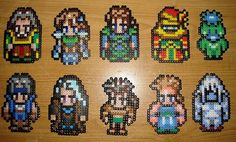 Perler - FF 3 or 6 - Some Characters