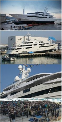 3,000 People Celebrate The Launch Of 80m Mega Yacht in Ancona