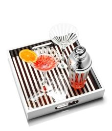 Cocktail Tray...the good ole' brown n' white...