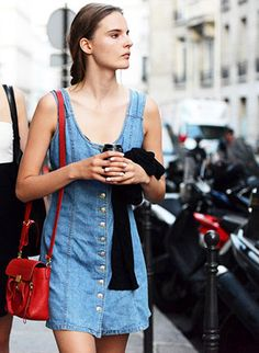 Trendy Street Style Fashion:The Parisian Denim. Blue Jeans is #Trending at#Paris #Couture Fall Winter 2013 Fashion Week. #trend #trends #fall2013 #denim #jeans