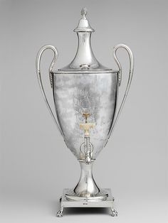 Tea Urn  Paul Revere Jr.  (American, Boston, Massachusetts 1734–1818 Boston, Massachusetts)    Date:      1791  Met