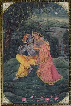 Mughal Paintings, Persian Miniatures, Rajasthani art and other fine Indian paintings for sale at the best value and selection. Krishna Statue, Radha Krishna Love, Radhe Krishna, Radha Rani, Shree Krishna, Pichwai Paintings, Indian Paintings, Krishna Painting, Madhubani Painting