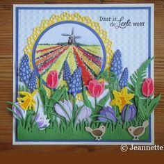 Kaartengalerij - Marianne Design Paper Craft Making, Diy Paper, Paper Crafts, Handmade Card Making, Garden Images, 3d Cards, Marianne Design, Spring Time, Cardmaking