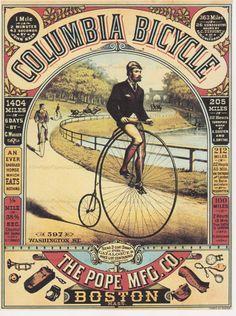 DOWNLOAD-8x10 PRINT Columbia Bicycle por VintagePaperGallery