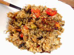 Les receptes que m'agraden: Paella de verduras y bacalao - Paella de verdures i bacallà
