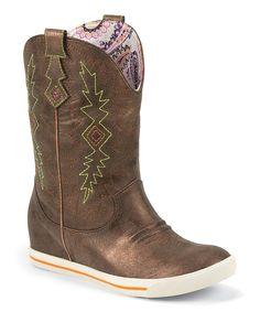 Metallic Bronze Gypsy Cowboy Boot by Justin Boots #zulily #zulilyfinds