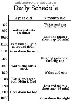 1000 Ideas About Daycare Schedule On Pinterest