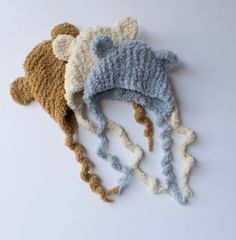Baby Bear Bonnet Baby Caramel Brown or Ivory by SweetBabyJamesShop $21.99