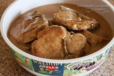 Easy Pork Chops in Mushroom Gravy | PressureCookingToday.com
