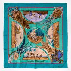HERMES Silk Scarf 90 x 90 cm