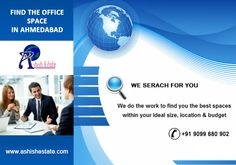 #AshishEstate We offer #office_space for rent in #Ahmedabad at reasonable cost. The spaces offered by us are in prime locations and are in excellent conditions. Those, who are interested in can visit us at http://ashishestate.com/
