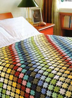 easy rainbow blanket