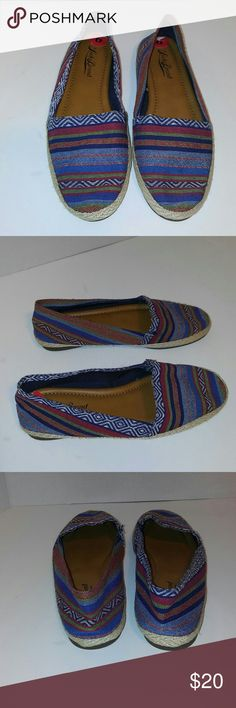 Lucky brand shoes Lucky brand colorful shoes. Size 6. Never worn. Canvas, boho, Adorable! Lucky Brand Shoes