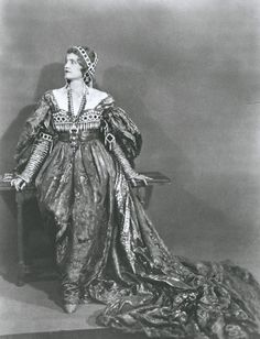 """Marjorie Merriweather Post wearing her """"Juliet"""" costume at the Everglades Ball, March 7, 1929."""