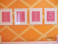 Love these framed prints!